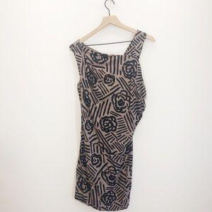 BCBG Asymmetrical Patterned Dress